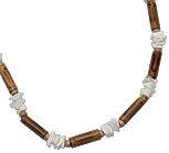 Bamboo and puka shell necklace