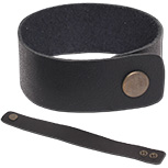 1 inch wide leather cuff bracelet by Monster Trendz
