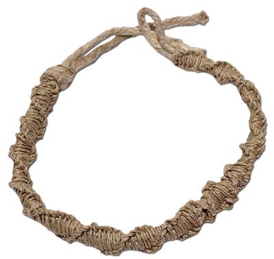 Thick hemp spiral braided choker
