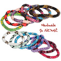 Nepalese roll on Czeck seed bead bracelet