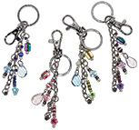 Fimo daisy beaded glamour key chain in assorted colors