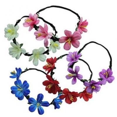Tropical Rose Flower Headband