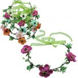 Tropical Rose Flower Hair Crown