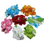 Tropical Rose Hair Flower Clips