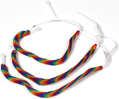Peruvian Rainbow Friendship Bracelets by Tropical Rose