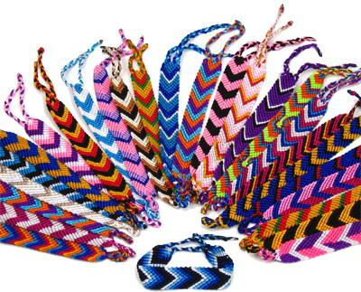 Peruvian flat braided friendship bracelet