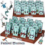 Monster Trendz - Standing card Painted Mosaicsearring kit