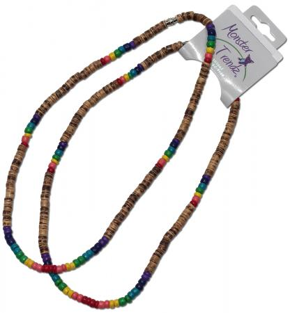 Brown and Rainbow 4-5mm CoCo