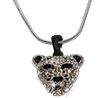 Crystal rhinestone leopard pendant necklace from Tropical Rose