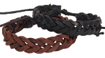 Braided leather black and brown bracelets