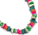 Pastel painted square shell ship necklaces from Tropical Rose, SH269N