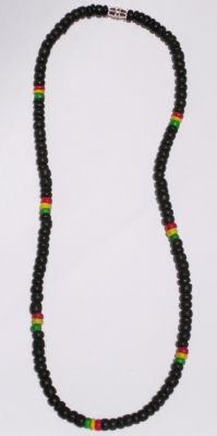 Black and rasta coco bead in 4-5mm size