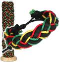 Leather and Rasta hemp braided bracelet