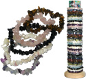 Semi precious chip stretch bracelets