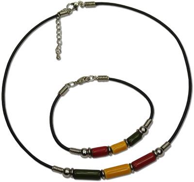 Rasta Greek ceramic beaded necklace, MB127 Series