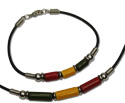 Rasta Greek ceramic beaded necklace, MB127 Series