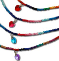 Crystal heart friendship bracelets, WL102-245B