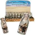 Shark teeth in a bottle souvenir