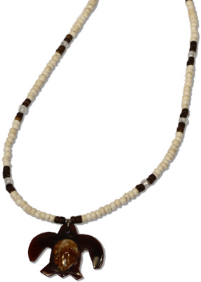 Cowrie on nshell turtle pendant necklace by Monster Trendz, SH289-247N