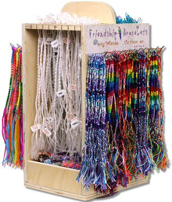 The ultimate friendship bracelet display