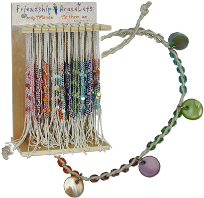 Dangle shell friendship bracelet