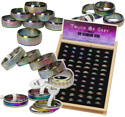 Rainbow anodized  316 Stainless Steel ring display kit