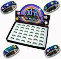 MD108R, Fancy decorated mood rings.
