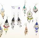 Peruvian semi precious beaded  earrings