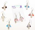 Peruvian semi precious crystal point earrings