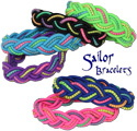 Glitter stretch sailor bracelets