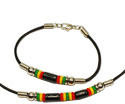 Rasta Greek ceramic and silicone beaded jewelry, MB139 Series
