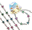 Paua shell celestial star bracelet with CZ crystal decoration