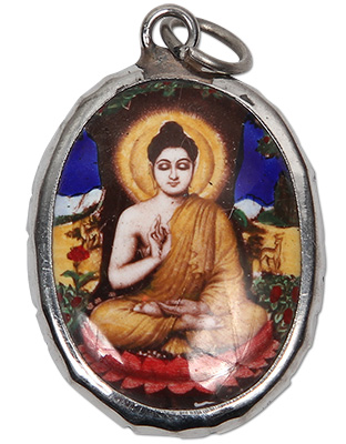 Enamel Buddha Pendant Necklace
