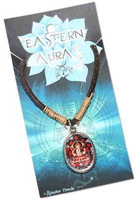 Enamel Chenrezig Buddha pendant Necklace