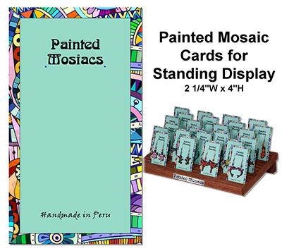 Painted Mosaic standing card option