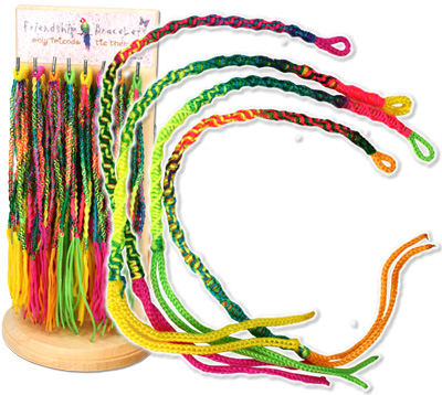 Neon colored Peruvian friendship bracelets, WL124B